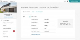 Screenshot van site woningpas